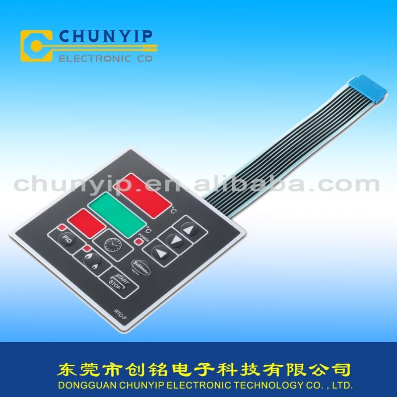 彩色LCD视窗和BERG连接器薄膜面板开关