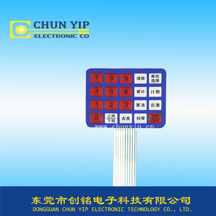 电子秤手感控制面板
