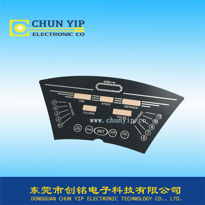 平面指示按键薄膜开关面板