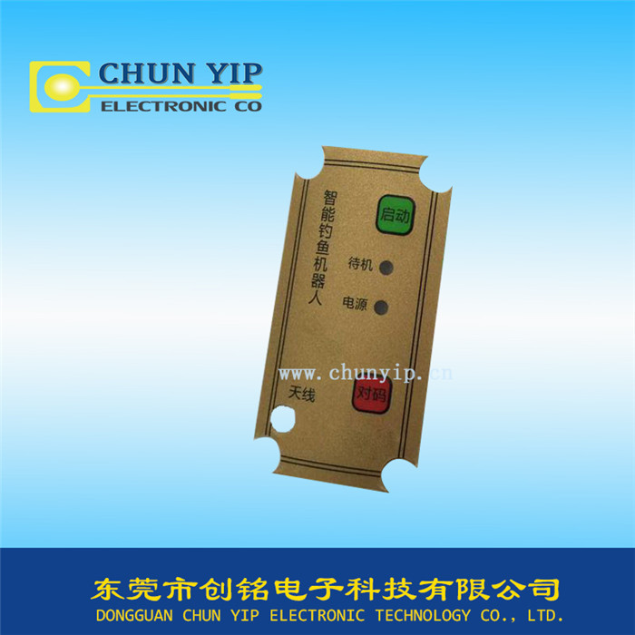 机械操控指示薄膜面板