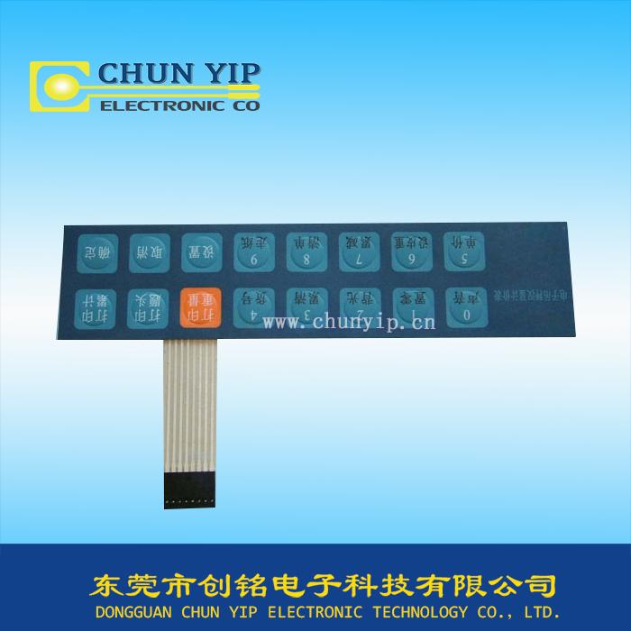 电子秤控制面板