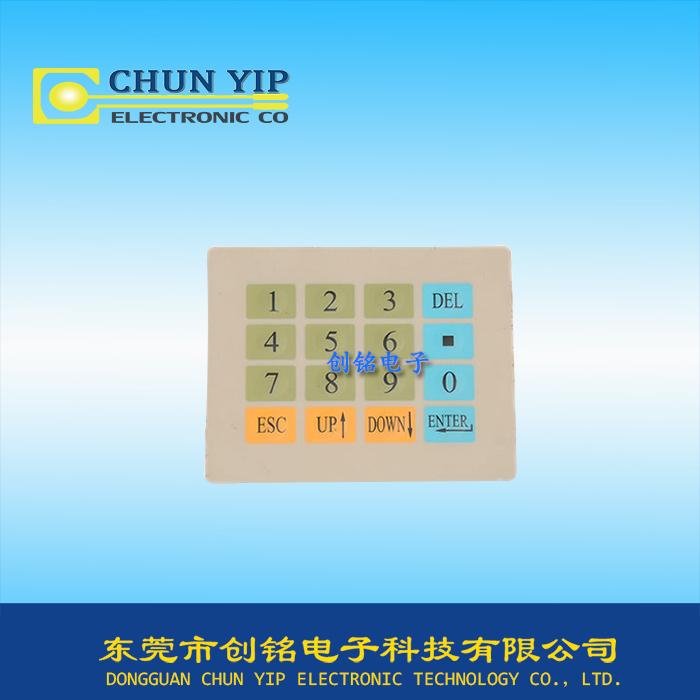 数字按键运行薄膜面板